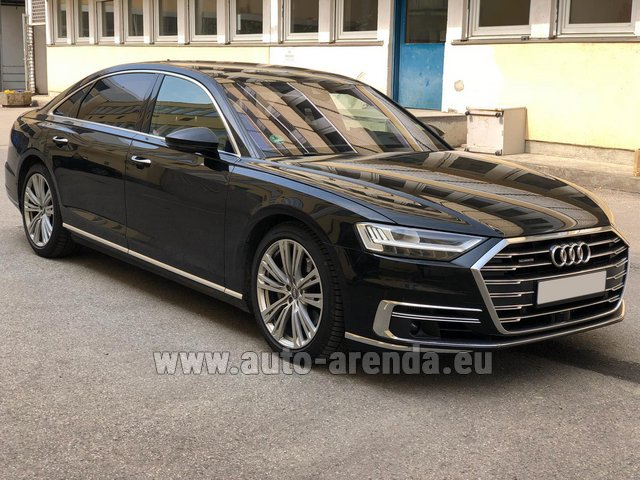 Transfer from Munich Airport General Aviation Terminal GAT to Serfaus by Audi A8 Long 50 TDI Quattro car