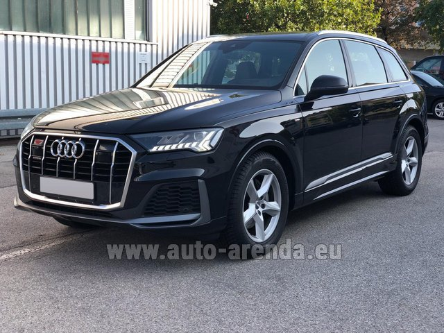 Hire and delivery to Berlin-Tegel airport the car Audi Q7 50 TDI Quattro Equipment S-Line (5 seats)