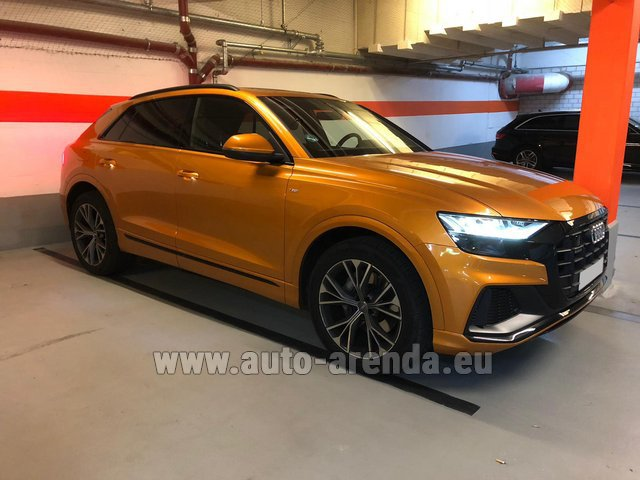 Hire and delivery to Berlin-Tegel airport the car Audi Q8 50 TDI Quattro