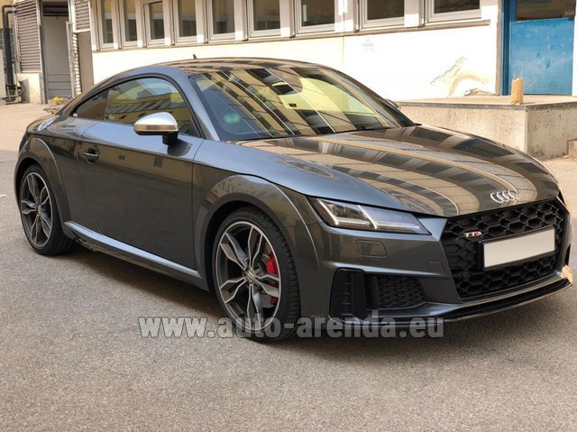 Hire and delivery to Berlin-Tegel airport the car Audi TTS Coupe