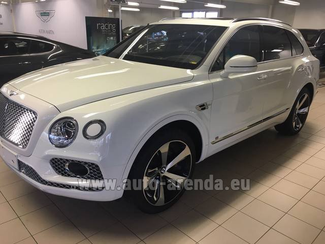 Rental Bentley Bentayga W12 NAIM 22 Rear-Enterteiment in Dresden
