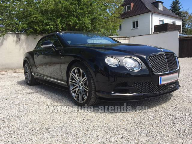 Hire and delivery to Memmingen airport the car: Bentley Continental GTC V12-Speed