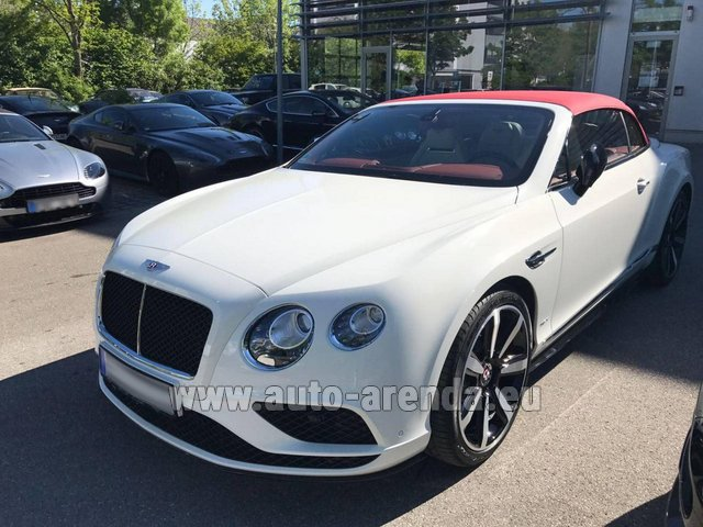 Hire and delivery to Hamburg airport the car: Bentley Continental GTC V8 S