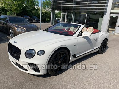 Rental in Frankfurt the car Bentley GTC W12 First Edition 2019