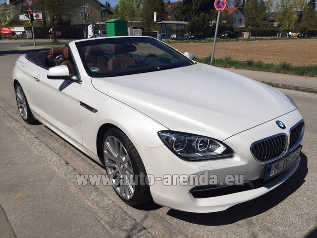 Hire and delivery to Memmingen airport the car: BMW 640 Cabrio Equipment M-Sportpaket