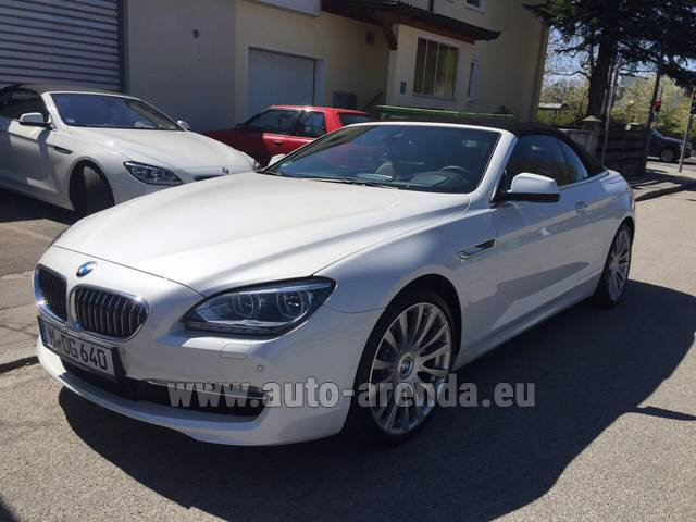 Rental BMW 640d Cabrio Equipment M-Sportpaket in Rostock
