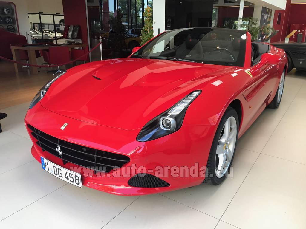 Rent The Ferrari California T Convertible Red Car In Germany