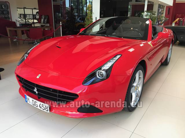 Hire and delivery to Memmingen airport the car: Ferrari California T Convertible Red