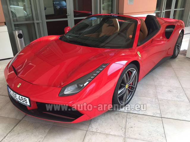 Hire and delivery to Memmingen airport the car: Ferrari 488 GTB Spider Cabrio