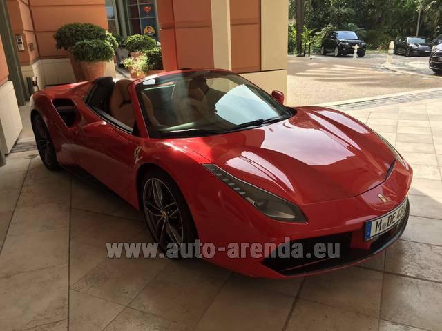Rent The Ferrari 488 Gtb Spider Cabrio Car In Fulda