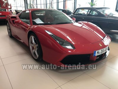 Rental in Frankfurt the car Ferrari 488 Spider