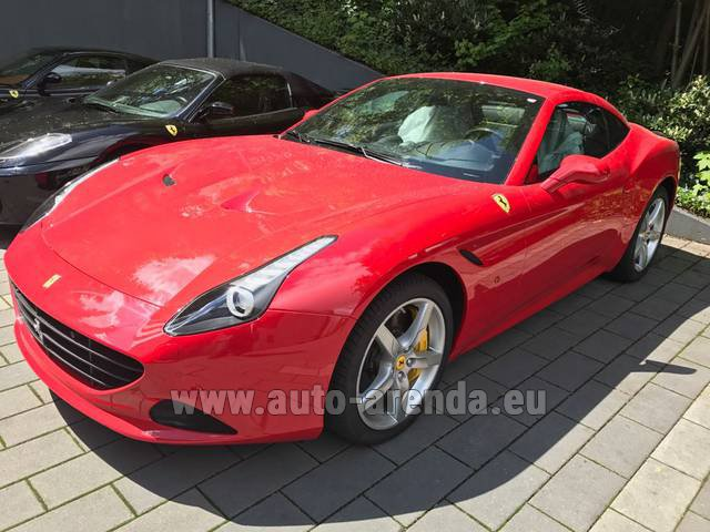 Hire and delivery to Hamburg airport the car: Ferrari California T Cabrio (Red)