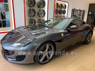 Rental in Frankfurt the car Ferrari Portofino