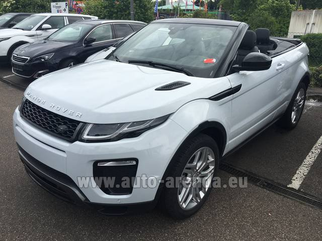 Hire and delivery to Memmingen airport the car: Land Rover Range Rover Evoque HSE Cabrio SD4 Aut. Dynamic