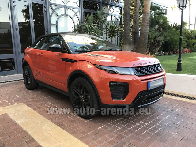 Hire and delivery to Hamburg airport the car: Land Rover Range Rover Evoque HSE Cabrio SD4