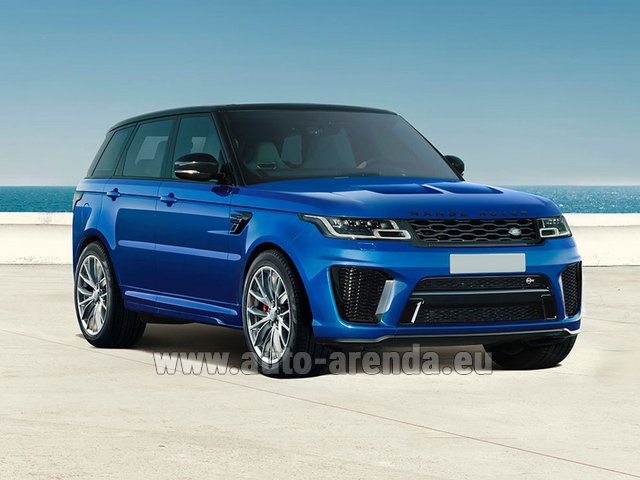 Rental Land Rover Range Rover Sport SVR V8 in Frankfurt am Main
