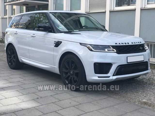 Rental Land Rover Range Rover Sport White in Germany