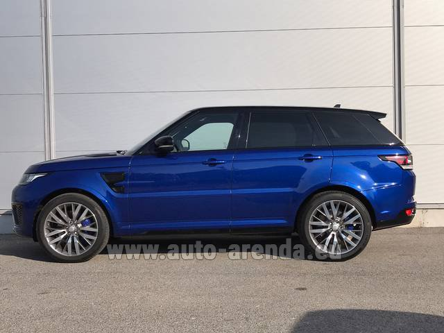Rental Land Rover Range Sport SVR V8 in Germany