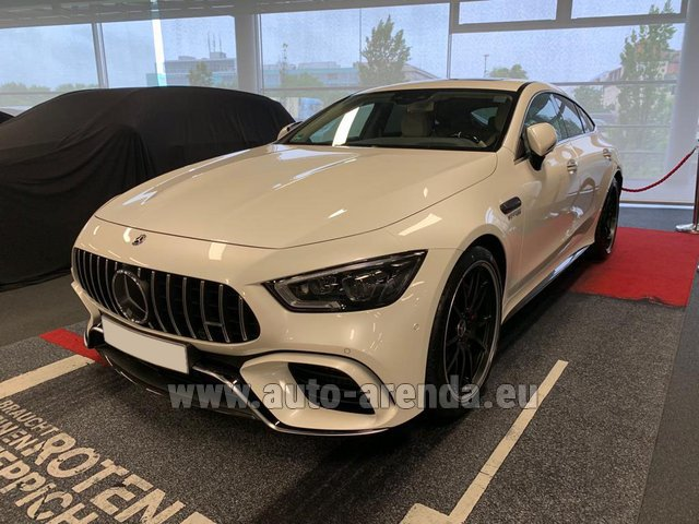 Hire and delivery to Memmingen airport the car Mercedes-Benz AMG GT 63 S 4-Door Coupe 4Matic+