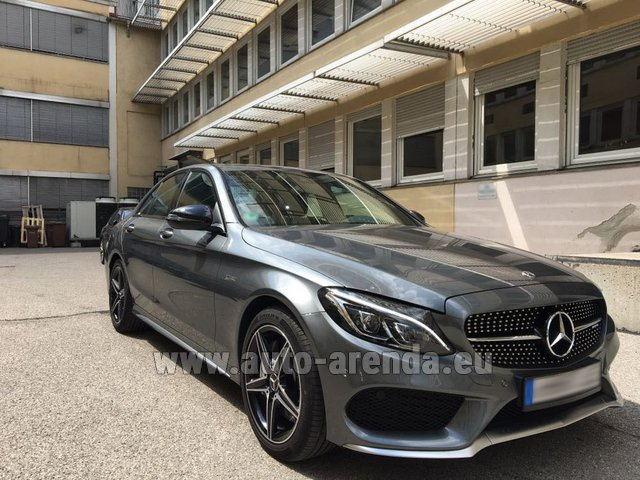 Hire and delivery to Memmingen airport the car Mercedes-Benz C-Class C43 AMG BITURBO 4Matic