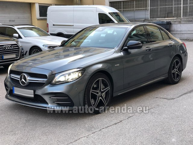 Hire and delivery to Memmingen airport the car Mercedes-Benz C-Class C43 BITURBO 4Matic AMG