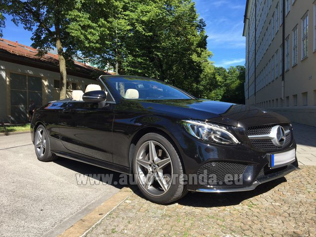 Hire and delivery to Hamburg airport the car: Mercedes-Benz C-Class C 180 Cabrio AMG Equipment (Black)