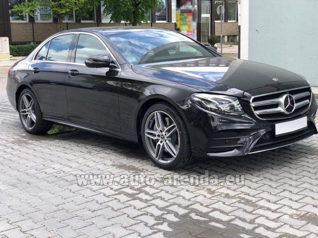 Rental Mercedes-Benz E 450 4MATIC saloon AMG equipment in Dresden