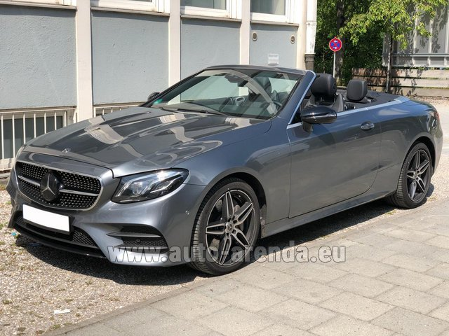 Rental Mercedes-Benz E 450 Cabriolet AMG equipment in Dresden
