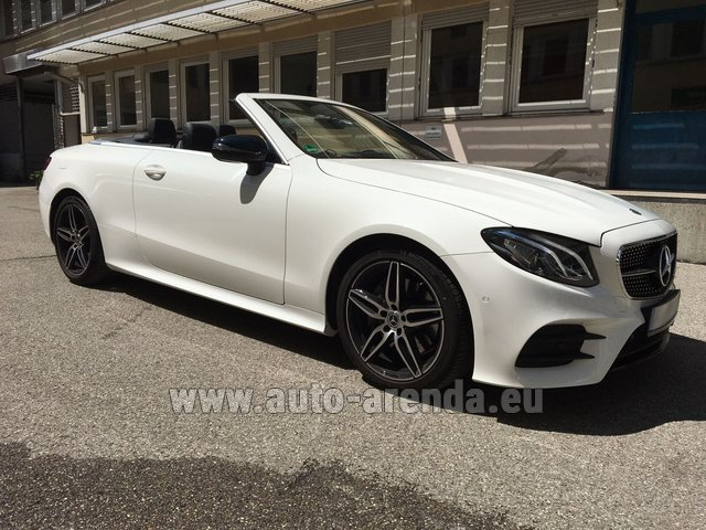Hire and delivery to Memmingen airport the car Mercedes-Benz E-Class E 200 Cabrio