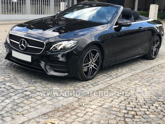 Rental Mercedes-Benz E-Class E220d Cabriolet AMG equipment in Dresden