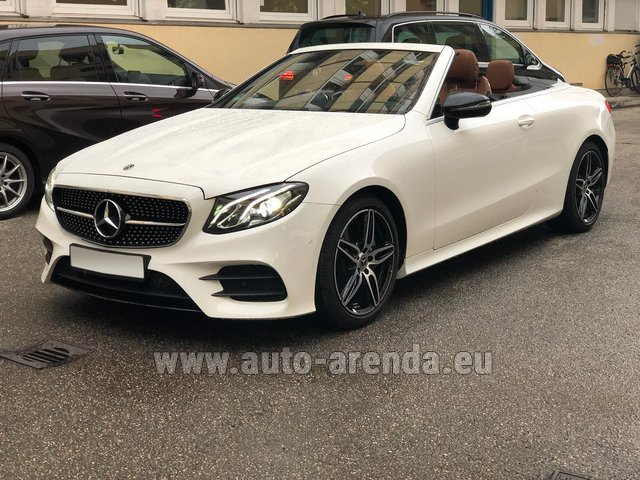Rental Mercedes-Benz E-Class E300d Cabriolet diesel AMG equipment in Dresden