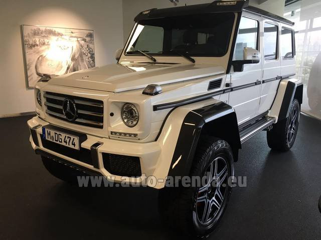 Hire and delivery to Memmingen airport the car Mercedes-Benz G 500 4x4 White