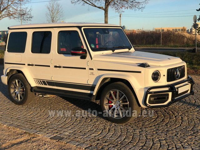 Rental Mercedes-Benz G 63 AMG White in Dresden