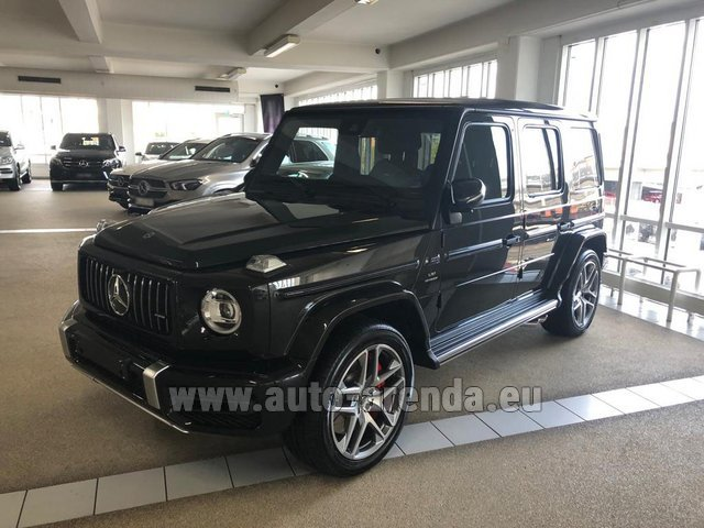 Hire and delivery to Memmingen airport the car Mercedes-Benz G63 AMG V8 biturbo