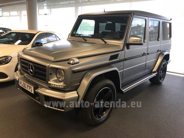Hire and delivery to Memmingen airport the car Mercedes-Benz G-Class G 500 Limited Edition