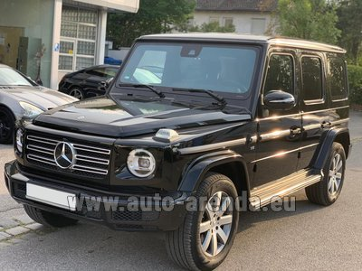 Rental in Frankfurt the car Mercedes-Benz G-Class G500 2019 Exclusive Edition