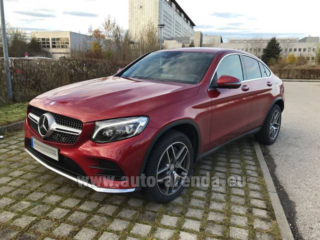 Hire and delivery to Memmingen airport the car Mercedes-Benz GLC Coupe
