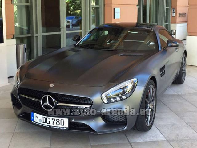 Hire and delivery to Memmingen airport the car Mercedes-Benz GT-S AMG
