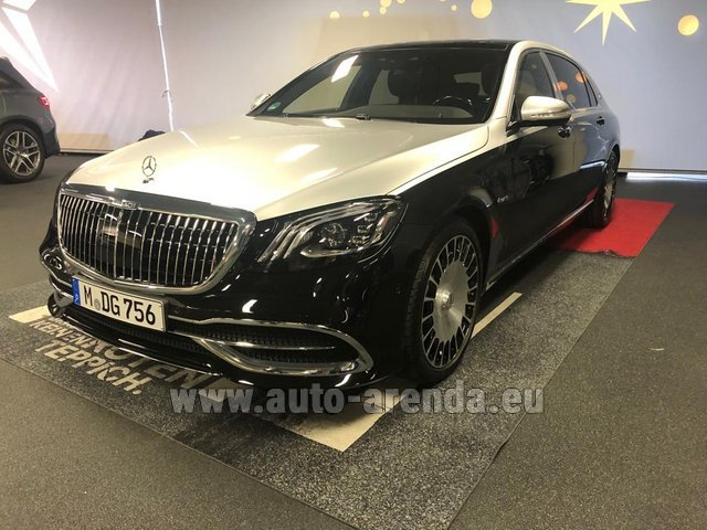 Прокат Maybach S 560 4MATIC комплектация AMG Metallic and Black в Германии