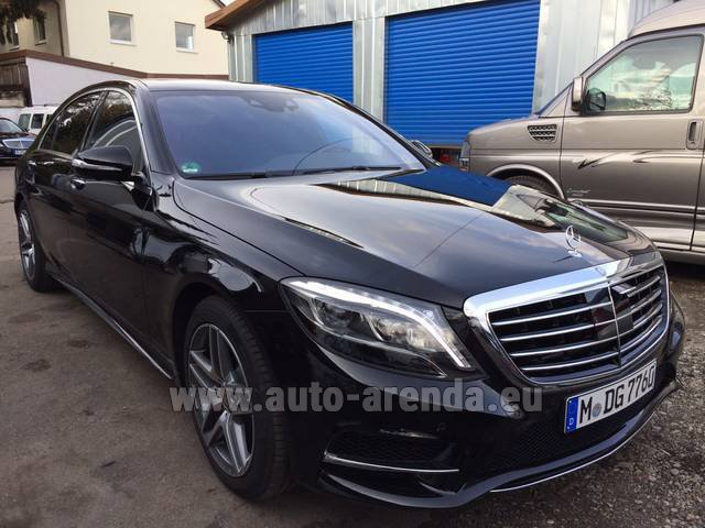 Rental Mercedes-Benz S 350 L BlueTEC AMG in Frankfurt