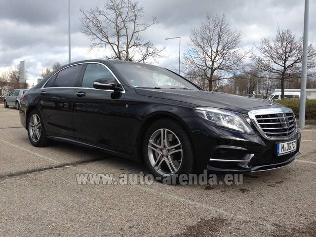 Transfer from Munich Airport to Zurich by Mercedes-Benz S350 Long 4MATIC AMG equipment car