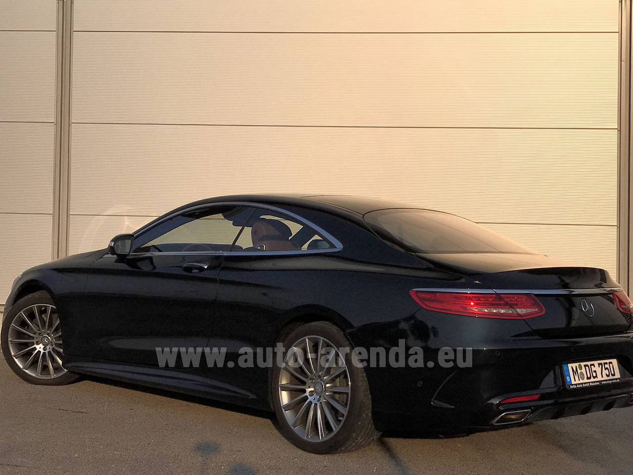 Rostock mercedes benz s 500 coupe 4matic 7g tronic amg rental for Mercedes benz rental prices