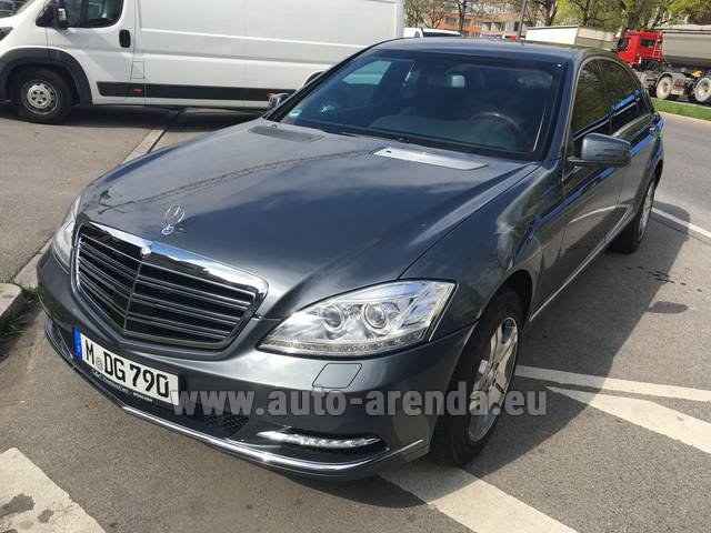 Hire and delivery to Memmingen airport the car Mercedes-Benz S 600 L B6 B7 ARMORED Guard FACELIFT