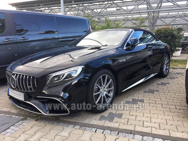 Hire and delivery to Memmingen airport the car: Mercedes-Benz S 63 AMG Cabriolet V8 BITURBO 4MATIC+