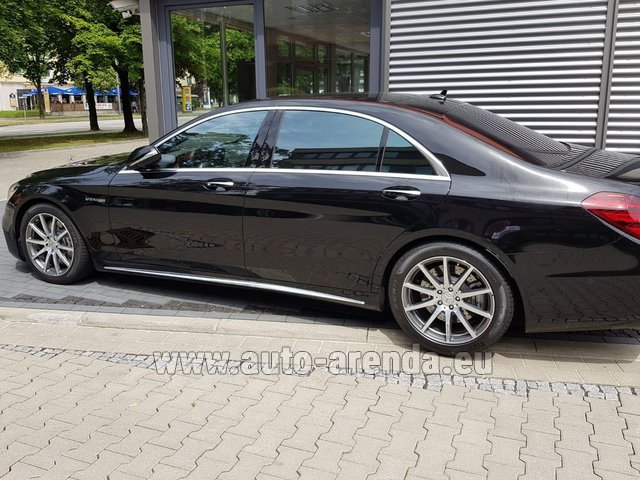 Transfer from Munich Airport General Aviation Terminal GAT to Serfaus by Mercedes S63 AMG Long 4MATIC car