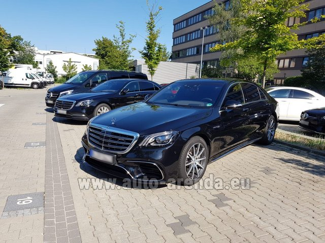 Hire and delivery to Memmingen airport the car Mercedes-Benz S 63 AMG Long