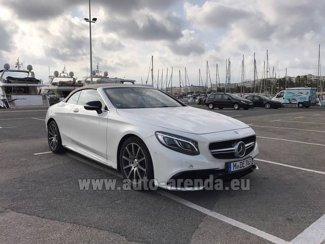 Hire and delivery to Memmingen airport the car Mercedes-Benz S 63 Cabrio AMG