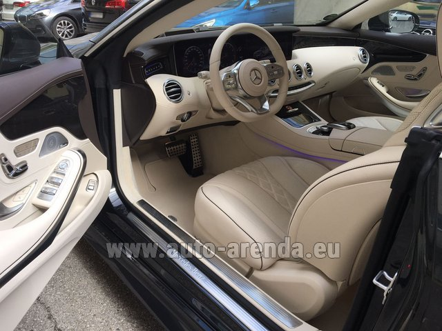 Hire and delivery to Memmingen airport the car Mercedes-Benz S-Class S 560 4MATIC Coupe