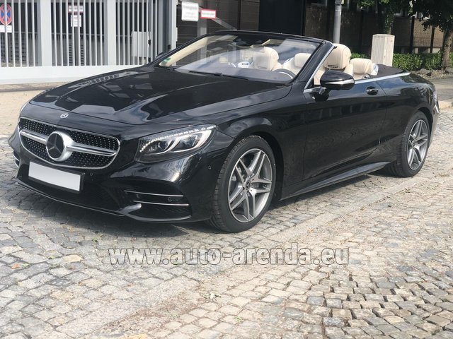 Rental Mercedes-Benz S-Class S 560 Cabriolet 4Matic AMG equipment in Dresden
