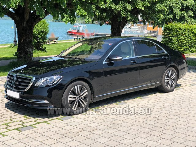 Hire and delivery to Memmingen airport the car Mercedes-Benz S-Class S400 Long 4Matic Diesel AMG equipment